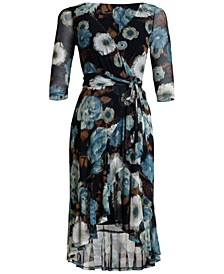 Floral-Print High-Low Maxi Dress