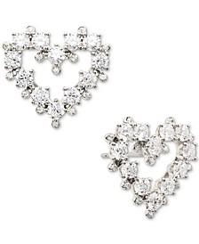 Cubic Zirconia Open Heart Stud Earrings, Created for Macy's