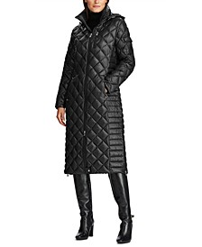 Hooded Quilted Down Coat