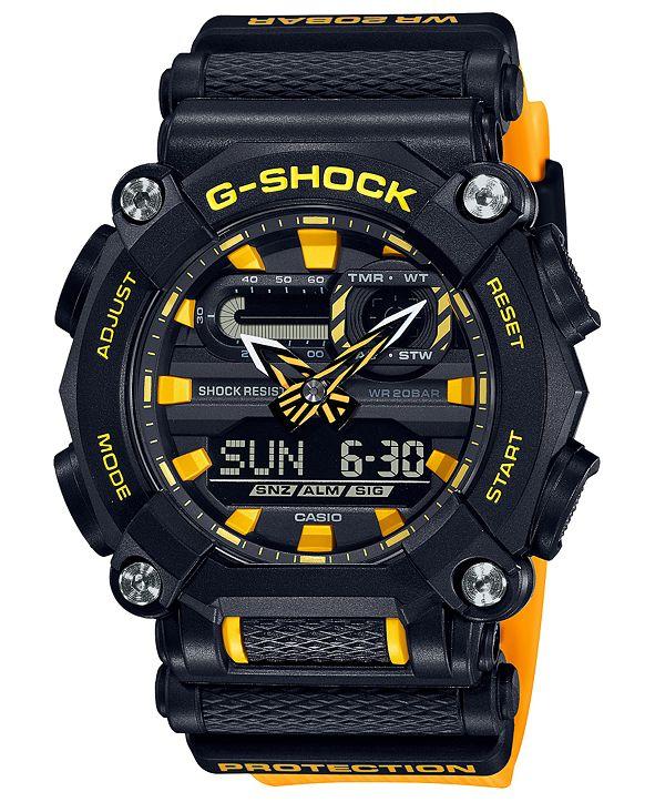 G-Shock Men's Analog-Digital Yellow Resin Strap Watch 49.5mm