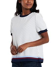 Jenna Dot-Print Top, Created for Macy's