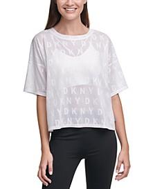 Sport Mesh Logo-Print T-Shirt