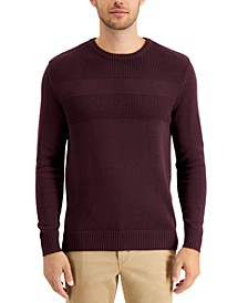 Men's Textured Cotton Sweater, Created for Macy's
