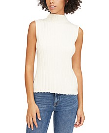 Leah Ribbed Mock Neck Tank Top
