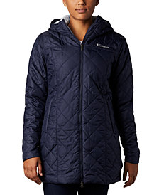 Columbia Women's Copper Crest Hooded Fleece-Lined Mid-Length Coat