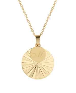 14K Gold Plated Celeste Initial Charm Pendant Necklace