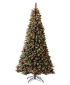 Pre-Lit Green Pine Artificial Christmas Tree with 1000 Warm Lights