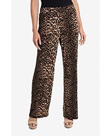 Women's Leopard Spots Pull On Pants