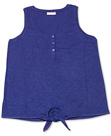 Petite Henley Tank Top, Created for Macy's