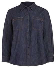 Plus-Size Denim Shirt