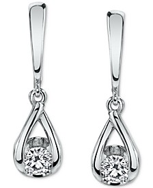 Diamond Teardrop Drop Earrings (1/5 ct. t.w.) , in 14k Gold or 14k White Gold