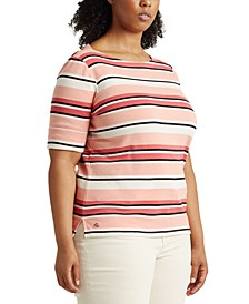 Plus Size Classic Striped Top