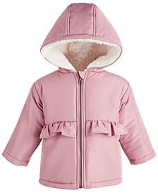 Baby Girls Ruffle Waist Jacket, Created for Macy's