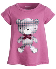 Baby Girls Plaid Bear T-Shirt, Created for Macy's