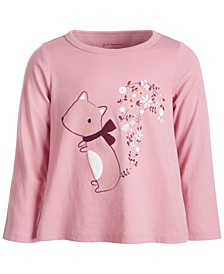 Baby Girls Squirrel Tee, Created for Macy's