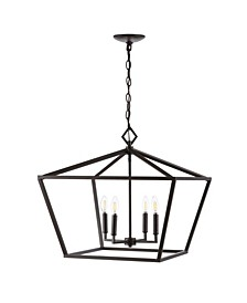 Gatsby 4-Light Adjustable Rustic Glam LED Pendant