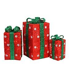 and Lighted Gi Boxes with Bows Outdoor Christmas Decorations