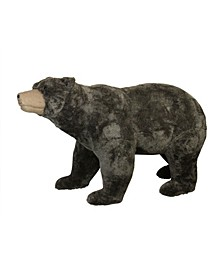Commercial Life-Sized Walking Plush Brown Bear Christmas Decoration