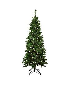 Pre-Lit Slim Mixed Long Needle Pine Artificial Christmas Tree