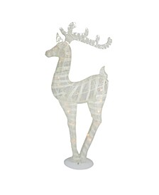 Battery Operated Glitter LED Lighted Reindeer Christmas Table top Decor