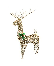 Lighted Standing Grapevine Reindeer Christmas Outdoor Decoration
