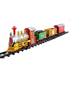Battery Operated Lighted and Animated Christmas Express Train Set with Sound