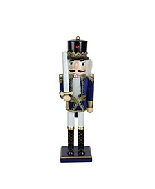 Wooden Christmas Nutcracker Soldier with Sword Tabletop Decorations