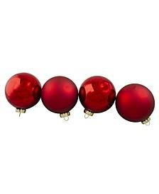 Shiny and Matte Glass Ball Christmas Ornaments