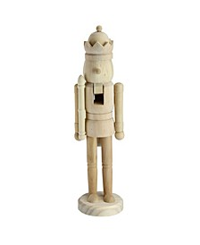 Traditional Unfinished Wood Paintable Nutcracker