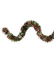 Wide Cut Christmas Tinsel Garland-Unlit