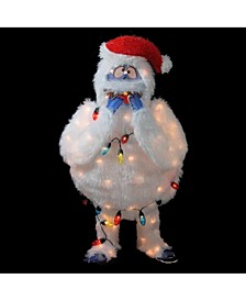 Lighted Faux Fur Bumble Christmas Outdoor Décor