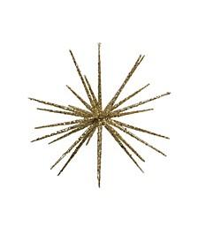 Shimmering Glitter Starburst Christmas Ornament