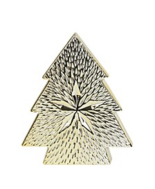 Ceramic Textured Tree with Star Table Top Christmas Decoration