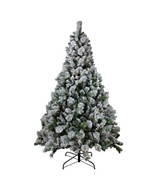 Pre-Lit Flocked Somerset Spruce Artificial Christmas Tree