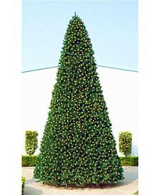 Pre-Lit Slim Pine Artificial Christmas Tree