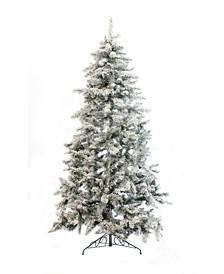 7.5' Alpine Spruce Snow Flocked Christmas Tree