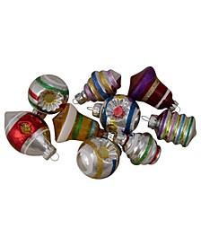 9 Count Glitte Christmas Ornaments