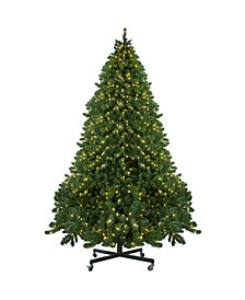 Pre-Lit Full Olympia Pine Artificial Christmas Tree with Wheels