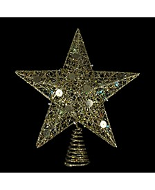 Lighted Battery Operated Glittered Star Christmas Tree Topper