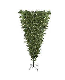 Pre-Lit Spruce Artificial Upside Down Christmas Tree