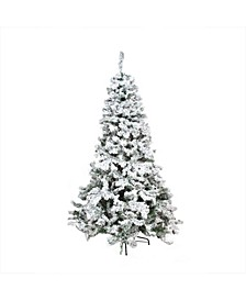 Unlit Heavily Flocked Pine Medium Artificial Christmas Tree