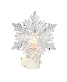 Clear Feathery Snowflake C7 Christmas Night Light