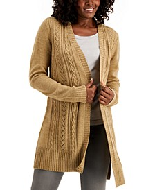 Pointelle-Knit Long Cardigan, Created for Macy's