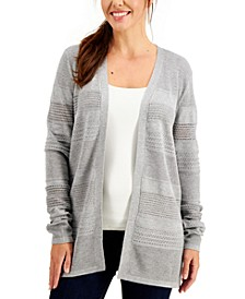 Pointelle-Knit Open Cardigan, Created for Macy's