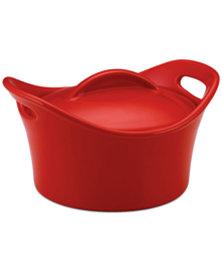 Rachael Ray Stoneware 18 Oz. Covered Mini Round Souped Up Baking Dish