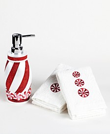 CLOSEOUT! Peppermint 3-Pc. Bath Counter Set