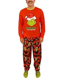 Matching Men's Grinch 3pc Family Pajama Set