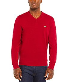 Men's V-Neck Cotton Sweater