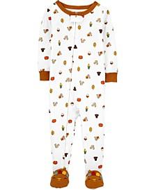 Toddler Boy or Girl 1-Piece 100% Snug Fit Cotton Footie PJs