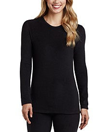 Fleece Long-Sleeve Crewneck Top